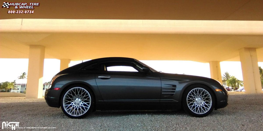 Chrysler Crossfire Niche Citrine M161 Wheels Silver