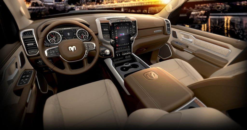 2019 Ram 1500 Laramie Mountain Brown Interior